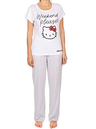 Hello Kitty Pijama para Mujer Gris Size Medium