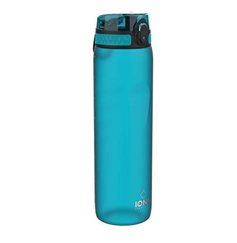 Ion8 Borraccia 1 Litro Senza Perdite, Senza BPA, Acqua
