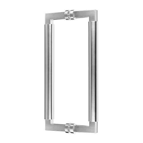 Griffpaar für Schiebetüren Bauhaus | V2A Edelstahl matt | Lochabstand: 350 mm | Für Holz- und Glastüren