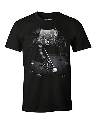 cotton division MEFRIDMTS013 T-Shirt, Nero, XXL Uomo