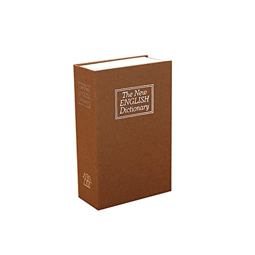 GLXYTT Real Pages - Caja de seguridad para libro de desvío con cerradura de combinación, caja para ocultar dinero, caja de seguridad oculta, caja de recogida, estilo de llave amarilla, pequeño