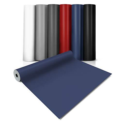 casa pura® CV Bodenbelag Expotop - extra abriebfester PVC Bodenbelag (geschäumt) - Einfarbig Blau - Oberfläche strukturiert - Meterware (100x250 cm)