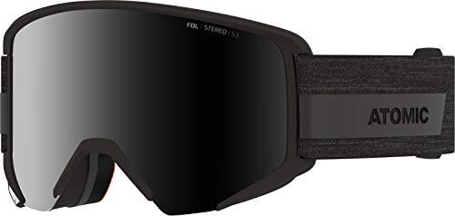 Atomic Savor Big Stereo, Maschera da Sci all-Mountain, per giornate Soleggiate, Compatibili con Occhiali da Vista Unisex-Adult, Nero, Large Fit