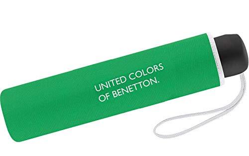 United Colors of Benetton Mini-Regenschirm für Damen, 8Speichen, 95cm Durchmesser, grün (Grün) - .