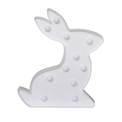 Mobestech Night Light Rabbit Kids - Lámpara de lectura para dormitorio, oficina, color blanco