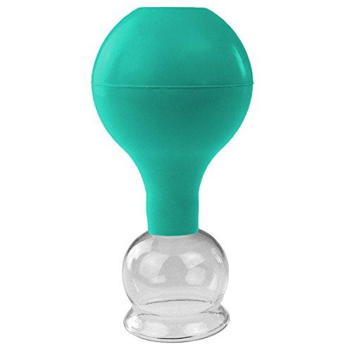 Pulox Schröpfglas aus Echtglas diverse Größen und Farben (40mm, grün)