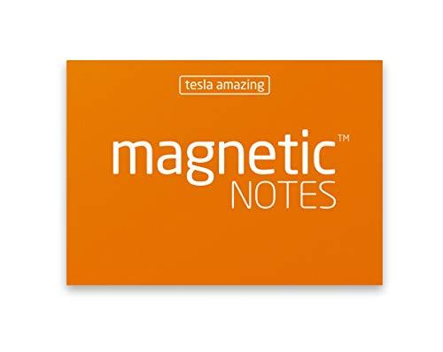 Elektrostatisch selbstklebende Haftnotiz - Tesla Amazing - Magnetic Notes - 7x5cm - Orange - 100 Blatt