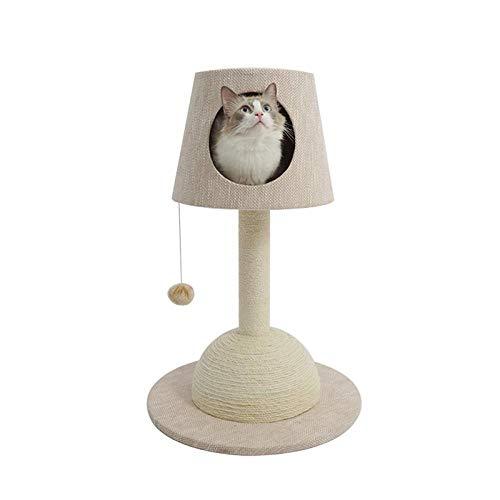 WJPL Lámpara de Mesa Gato Marco de Escalada Gato Litter un Gato arañazo Columna pequeño Gato Barril de Madera sólida Cat Marco Cat Suministros de Gato