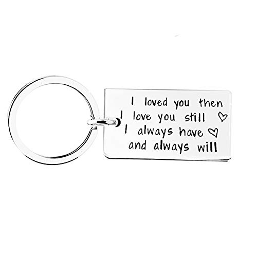 Boyfriend Girlfriend Funny Couple Gifts for Him and Her Keychain Dog Tag I Love You Keychain Gift for Birthday Valentine's Day Thanksgiving Christams Gift