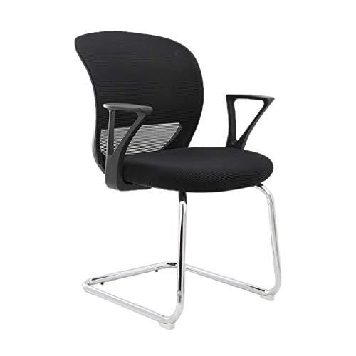 Sessel GSN Bürostuhl Studenten Stuhl zurück weißer Stuhl zurück braun Stuhl zurück Hotel Studentenwohnheim Stuhl zurück Hotelstuhl zurück Kinder-Bürostuhl (Color : Black)