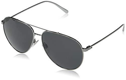 Ralph Lauren Gafas de sol para hombre, RL7068, color gris oscuro, 60 mm