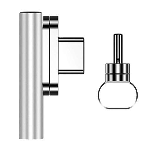 Adaptador magnético USB tipo C de 20 pines tipo C compatible con MacBook Pro Dell XPS Surface Go y más dispositivos USB-C.