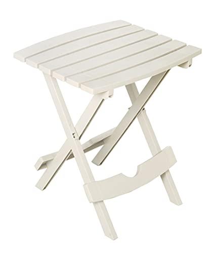 Allibert Quick Fold Side Table Tavolo Pieghevole, Bianco