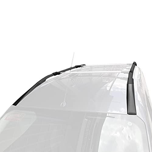 apline Barras de Techo Aluminio rieles Portaequipajes Barras Superiores Rail laterales juego para Ford Courier 2014-2021 Negro