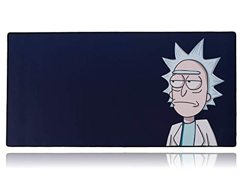 Rick and Morty Extended Plus Size Custom Professional Gaming Mouse Pad - Anti Slip Rubber Base - Stitched Edges - Large Desk Mat - 36