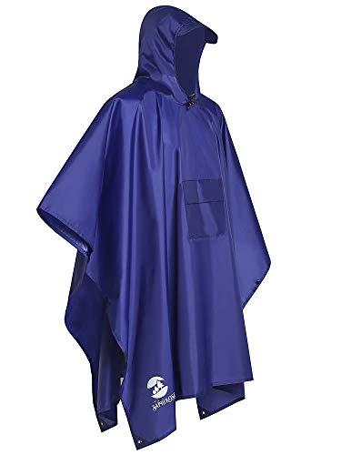 Summer Mae Regenponcho Wandelen Fietsen Outdoor 3-in-1 regenjas voor dames en heren herbruikbare poncho omhangmat regenjas