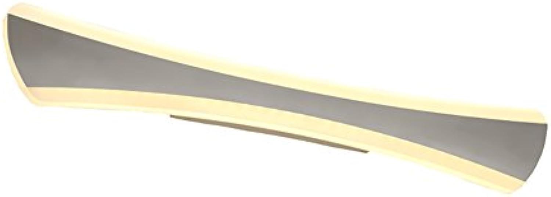 Badezimmerbeleuchtung Spiegel-vordere Lichter, einfaches Badezimmer-wasserdichtes Licht LED-Eitelkeits-Lampen-Wand-Lampen-Verfassungs-Lichter, warmes Wei, kühles weies Licht Licht ( Farbe   Warmwei-4285CM )