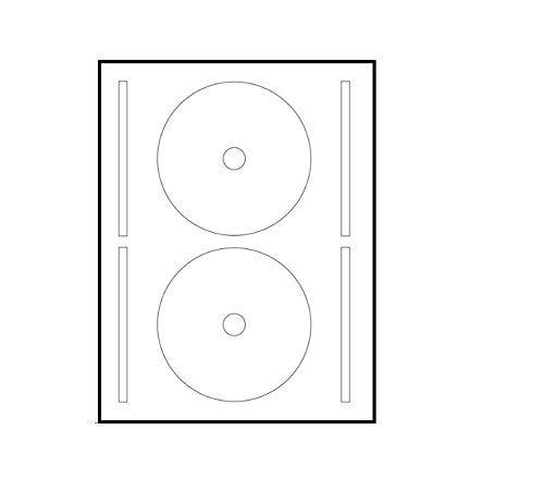 UniversGraphique, 40 Sticky CD - DVD-Etiketten, Durchmesser 117 mm + Loch 17 mm, 2 Etiketten pro Blatt, Platzierungsvorlage enthalten.