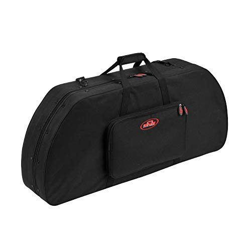 SKB Cases 2SKB-SC4120 Nylon Soft Exterior Waterproof Hybrid Bow Utility Case with Pouch and Adjustable Shoulder Strap for Wide Style Bows, Black