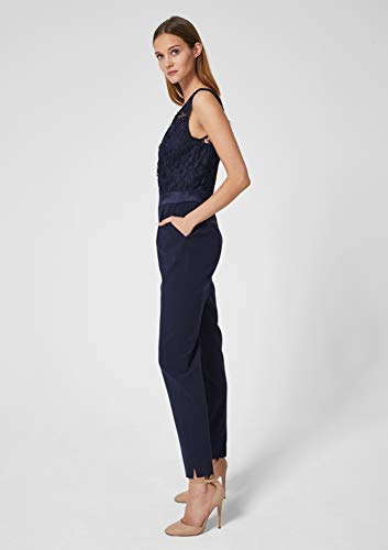 s.Oliver BLACK LABEL Damen Edler Overall mit Spitze deep sea 40 - 3