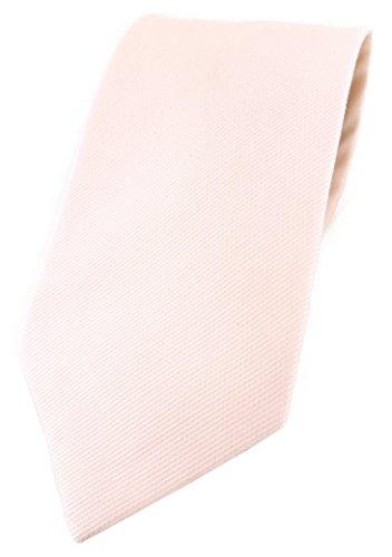 TigerTie Corbata de diseño en un solo color, 100% algodón, ancho de corbata de 8 cm., rosa pastel, Talla única