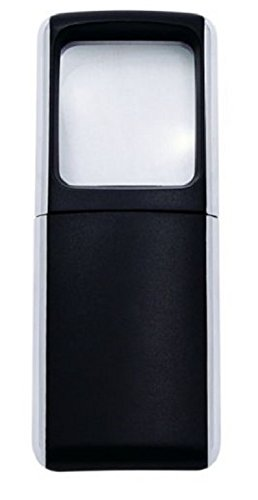 Wedo 2717501 Lupe eckig (mit LED Beleuchtung inklusiv Batterien) schwarz