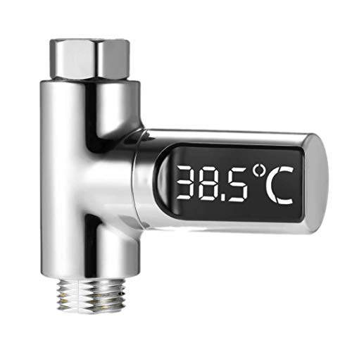 XLKJ Ducha Temperatura Pantalla LED, Termómetro de Ducha Digital LED,Termómetro de Agua para Baño Giratoria de 360 ° para Baño de Bebé