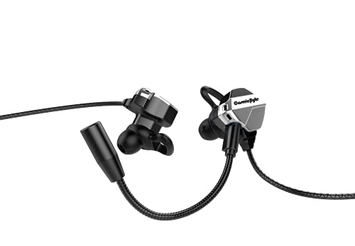 Cosmic Byte CB-EP-04 Gaming Earphone with Detachable Microphone for PC, PS4, Mobiles, Tablets (Black/Silver)