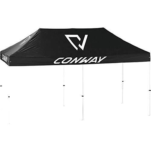 CONWAY Präsentationszelt Aluminiumgestell ohne Seitenwände 6x3m schwarz Fahrrad