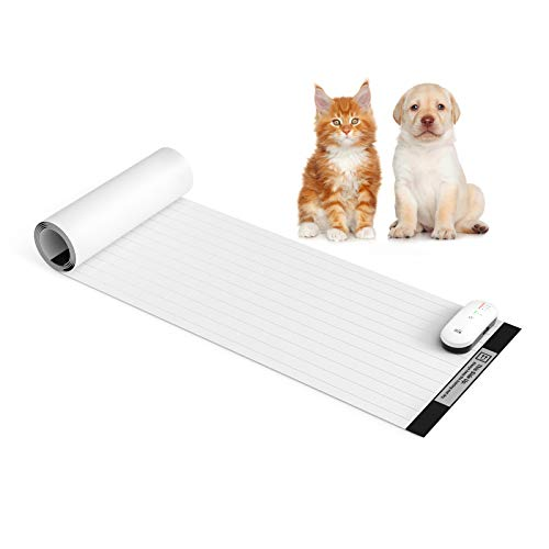 "Pet Shock Mat - 60""x12"" Pet Training Mat for Cats & Dogs, 3 Training Modes Pet Shock Pad, Indoor..."
