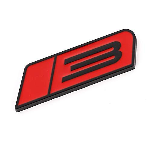 vorne hinten plakette 3D Metall Turbo 3 Laufes Pferd Emblem Abzeichen Auto Aufkleber Fronthaube Grille Auto Aufkleber Für Ford Roush Mustang Stufe 3 GT Fiesta Autodekoration ( Color Name : White )