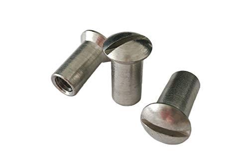 Hülsenmuttern mit Linsenkopf M4x12 mm - 25 Stück aus Edelstahl Schlitz rostfrei