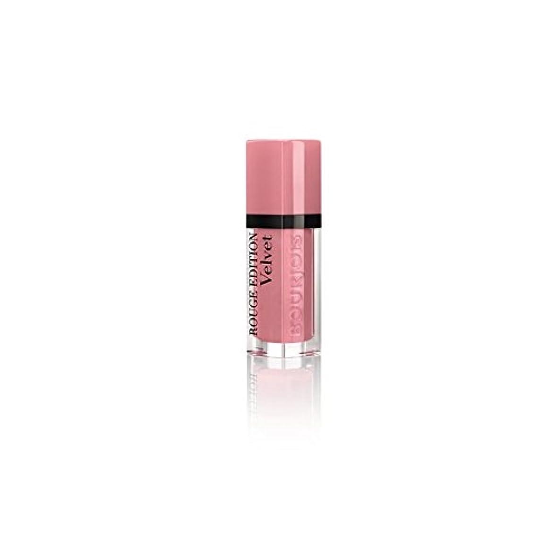必要ないガラガラ作曲家ブルジョワルージュ版のベルベットの口紅は、10のピンクはありません x4 - Bourjois Rouge Edition Velvet Lipstick Don't Pink of It 10 (Pack of 4) [並行輸入品]