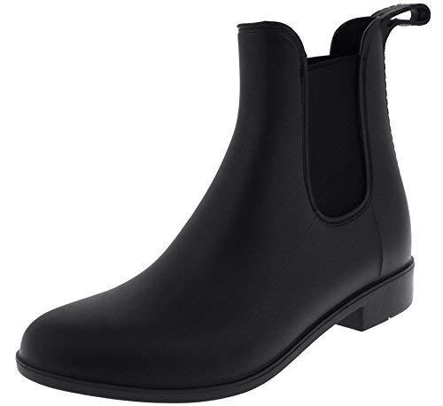 Capelli New York Ladies Matte Jodhpur Rain Boots with Elastic Gores Black 10