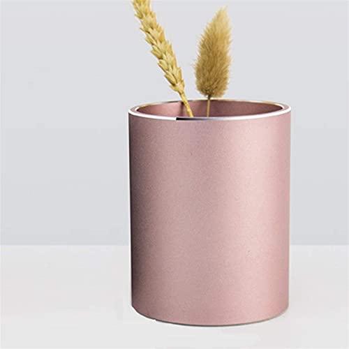 YLLAND Titular de la Pluma Redonda de la Oficina, la aleación de Aluminio del lápiz, 10cmx8cm (Color: Negro) LNNDE (Color : Rose Gold)
