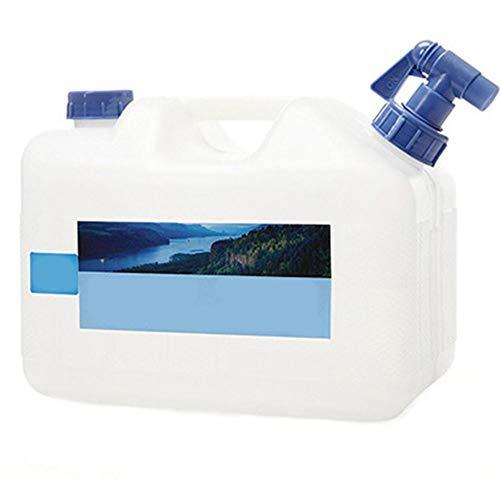 Fablcrew. Jerrican - Cubo de Agua portátil para Acampada con Grifo (10 L), Color 30 * 20 * 25CM, tamaño 10 L