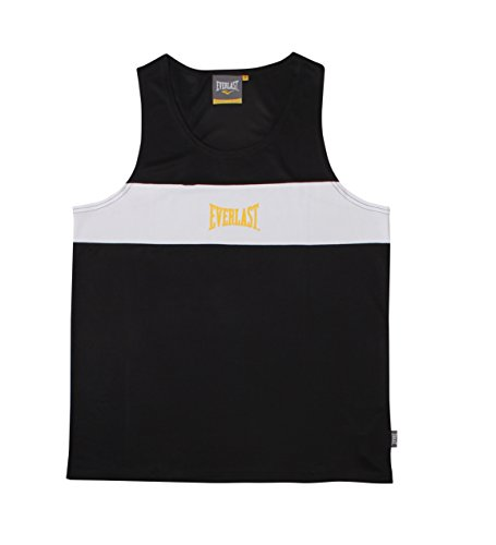 Everlast Erwachsene Boxartikel 4424 Competition Contrast Pn Vest, Black, L