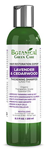 "Hair Growth/Anti-Hair Loss Sulfate-Free Shampoo ""Lavender & Cedarwood"". Alopecia Prevention and DHT Blocker. Doctor Developed. NEW 2018 FORMULA!"