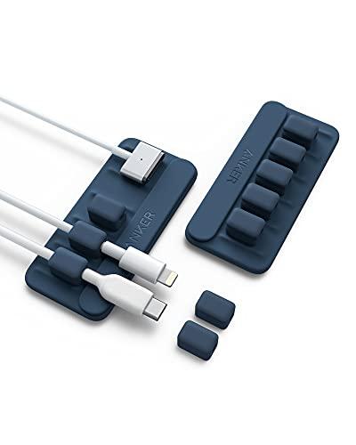 Anker Magnetic Cable Holder 2個セット マグネット式 ケーブルホルダー ライトニングケーブル USB-C ケー...