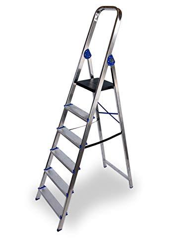 Escalera domestica de aluminio Altipesa (Aluminio, 6 PELDAÑOS)