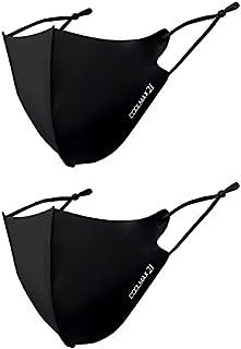 【RUSIONセット】COOLMAX 21(クールマックス21)アクアバンク Aqua Bank 接触冷感マスク(Q-max0.5以上) 大人用 ふつうサイズ PFE99%