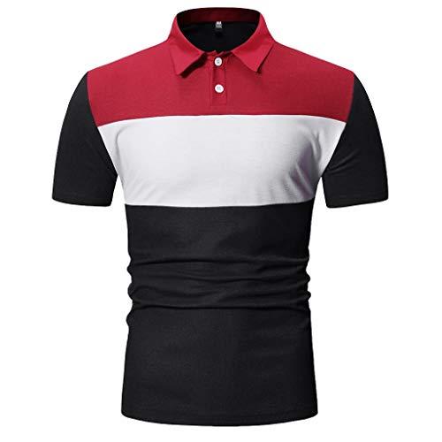 CICIYONER Poloshirts Herren Kurzarm Tshirts Henry Painting Casual Top Blusen Polo Hemden Schwarz Marine Grau M L XL XXL