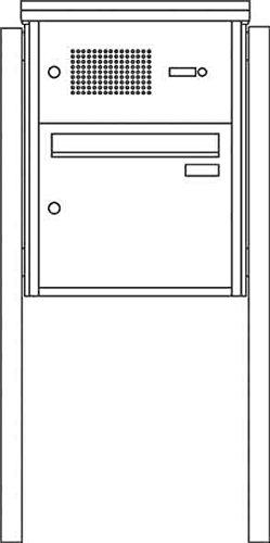 Ritto 1334120 Vista Briefkasten Stand, 1fach, freistehend, Edelstahl