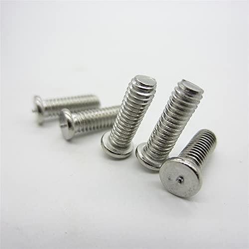 Tornillo 100pcs / lote M3 M4 M5 M6 304 tornillos de soldadura de acero sin ceda a ISO13918 DIN32501 Tachuelas de soldadura por puntos SUS 304 Tornillo de soldadura cierre ( Size : M5 35mm(100pcs) )