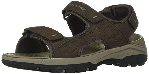 Skechers Men's Tresmen-Garo Open Toe Water Sandal, Chocolate, 9 Medium US