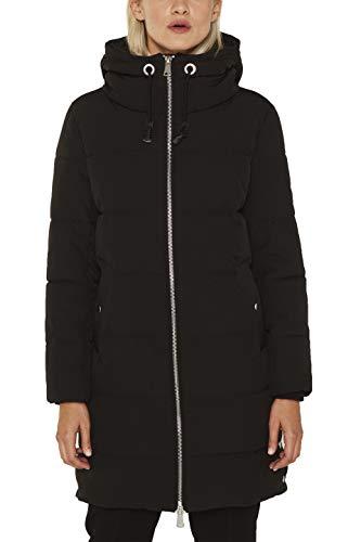 ESPRIT Damen 119EE1G014 Mantel, Schwarz (Black 001), Medium (Herstellergröße: M)