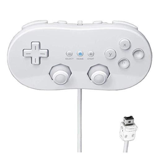 hvxjxk Wii Classic Controller Globale Classic Controller Für Nintendo Wii Farbe Weiß