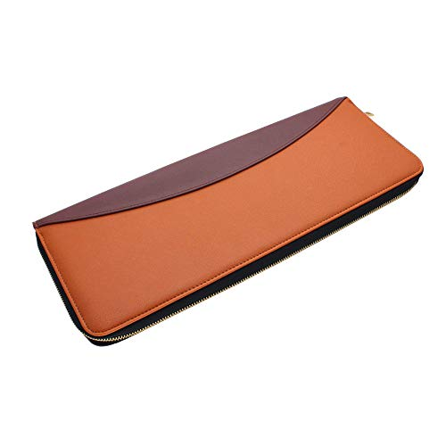 UTILE Tie PU Leather Storage Case for Travel – Holder for Tie, Necktie, Bow Tie, Tie Bar and Cufflinks (17.3 x 6.7 x 1.6 Inches) - Color: Brown