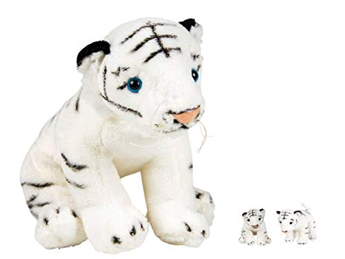 "Always23 White Tiger Plush 8"" White Tiger Cub Plush Stuffed Animal"