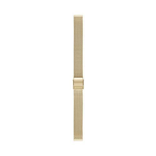Skagen - Correa de Reloj de Malla de Acero Inoxidable Dorado de 12 mm para Mujer, SKB2049